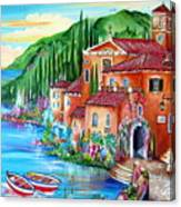 Via Positano By The Lake Canvas Print