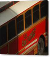 Via San Antonio Trolley Canvas Print