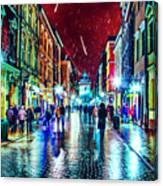 Vibrant Night Life Canvas Print