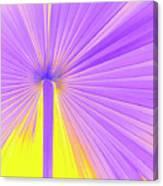 Vibrant Palm Frond Square Canvas Print