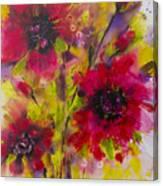 Vibrant Pink Poppies Canvas Print