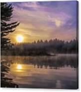 Vibrant Sunrise On The Androscoggin River Canvas Print