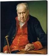Vicente Portaia Lopez  Felix Maximo Lopez First Organist Of The Royal Chapel 1820 Canvas Print