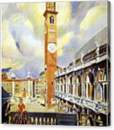Vicenza Italy Travel Poster Canvas Print