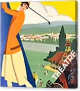 Vichy, Sport Tourism, Woman Play Golf Canvas Print