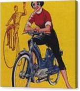 Victoria Vicky Iv - Motorcycle - Vintage Advertising Poster Canvas Print