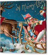 Victorian Christmas Card Canvas Print