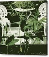 Victorian Garden Poster Canvas Print