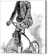 Victorian Gentleman Cycling Canvas Print