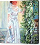 Victorian Lady on Poarch Canvas Print