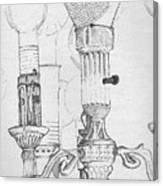 Victorian Lamp Drawing Canvas Print
