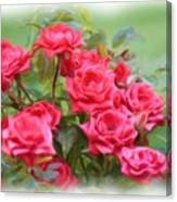 Victorian Rose Garden - Digital Painting Canvas Print