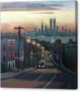 Victory Boulevard At Dawn Canvas Print