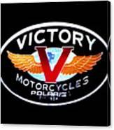 Victory Motorcycles Emblem Canvas Print