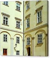 Vienna Courtyard Chat Canvas Print