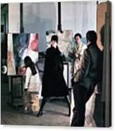 Vienna Fashion Shoot 1968 Canvas Print