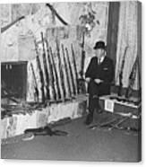 Viet Nam Vet John Dane With His Weapons Collection American Fork Utah 1975 Canvas Print