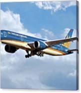 Vietnam Airlines Boeing 787 Dreamliner Canvas Print