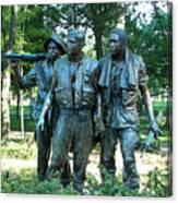 Vietnam War Memorial Statue Canvas Print