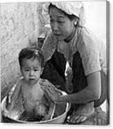 Vietnamese Orphan Bathing Canvas Print