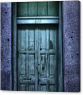 Vieux Carre' Doorway At Night Canvas Print
