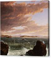 View Across Frenchman's Bay From Mt. Desert Island After A Squall Canvas Print