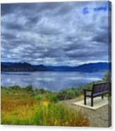 View From A Bench Canvas Print