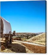 View From A Sheep Herder Wagon Canvas Print