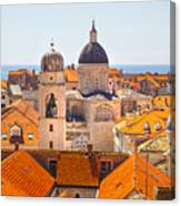 View From Above Of Dubrovnik Canvas Print