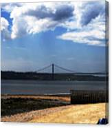View From Across The Tagus Canvas Print