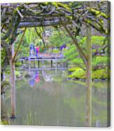 View From An Arbor Canvas Print