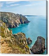 View From Cabo Da Roca, The Western Point Of Europe, Portugal Canvas Print