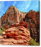 View From Canyon Overlook In Zion National Park Canvas Print