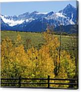 View From Hwy 62, Ouray County, Co Canvas Print