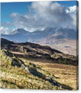View from Moel Siabod, Snowdonia, North Wales Canvas Print