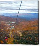 View From Mount Mansfield In Autumn Canvas Print