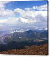 View From Pikes Peak 1964 Canvas Print