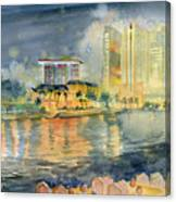 View From Quay Singapore Canvas Print