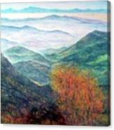 View From The Autumnal Belchen   Canvas Print