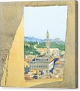 View From The Duomo In Florence Canvas Print
