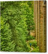 View From The Lllangollen Aqueduct In Wales Canvas Print