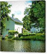 View From The Mill Pond Centerbrook Ct Canvas Print