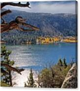 View From The Top Of June Lake Canvas Print