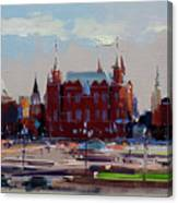 View From The Window Of The Hotel Metropol. Moscow. Manezhnaya Square. Canvas Print