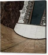 View From Top Of Hoover Dam Canvas Print