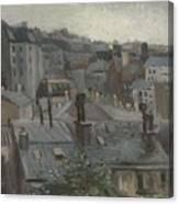 View From Vincent S Studio Paris, June 1886 Vincent Van Gogh 1853  1890 Canvas Print