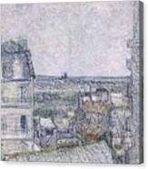 View From Vincent's Room In The Rue Lepic Canvas Print