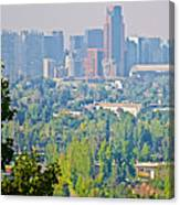 View From Wealthy Neighborhood In Hills Of Santiago-chile Canvas Print