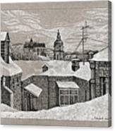 View From Window. Kiev Canvas Print