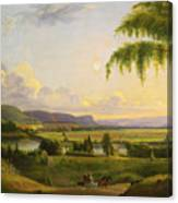View Near Deerfield Canvas Print